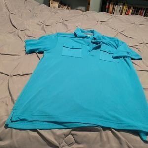UNDER ARMOUR Men's Bright Blue SS Polo. Size Med